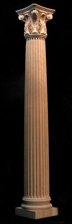 Carved Wood Column - Corinthian