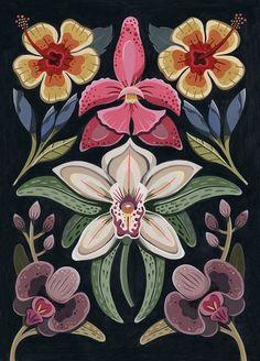 MAYA HANISCH | ARTWORK & BOOKS Scandinavian Paintings, Colorful Flowers, Art Inspo, Maya, Illustration Art, Doodles, Watercolor, Commercial, Artwork