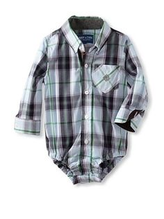 70% OFF Andy & Evan Baby Plaid Shirtzie (Light/Pastel Blue)