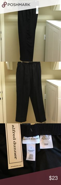 Alfred Dunner size 16 black pants Alfred Dunner size 16 Black pants with elastic waist band with pockets Alfred Dunner Pants