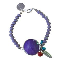 Armband Zilver - Feather Stone