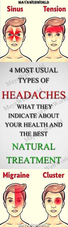 4 Most Usual Types of Headaches (What They Indicate About Your Health and the Best NATURAL Treatment!) – MayaWebWorld