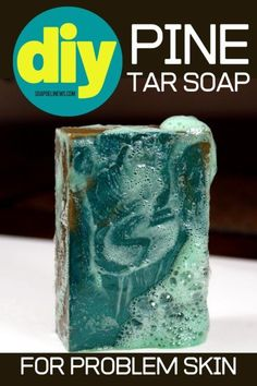 Pine tar soap recipe and its natural skin care benefits. Learn how to make pine tar soap recipe for its benefits for problem skin. A traditional remedy for relief of a variety of skin conditions including psoriasis, eczema, dandruff and skin inflammation, this cold process pine tar soap recipe also helps with common seasonal issues such as itchy bug bites and poison ivy. Learn how to craft your own natural pine tar soap recipe for your natural skin care routine. Cold process soap recipe…