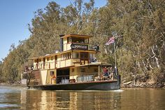 The Little Black Book of Aussie Travel Secrets Murray River, Steam Boats, Down The River, Paddle Boat, Victoria Australia, Cool Bars, Steamer, Australia Travel, House Styles