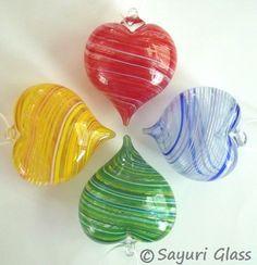 Beautiful glass hearts