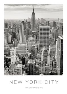 New York City Map, New York Skyline, Beautiful Places To Travel, Beautiful World, Empire State Building, City Aesthetic, Silver City, City That Never Sleeps, Travel Posters