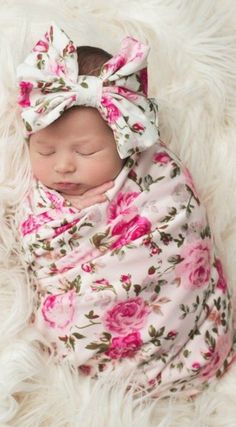 Beautiful Personalized Baby Blanket, Floral Swaddle Blanket, Personalized Swaddle Blanket in beautiful patterns! Absolutely stunning in those special newborn photos and the perfect gift for any newborn girl! Baby Boys, Cute Baby Girl, Kids Girls, Personalized Baby Blankets, Baby Girl Personalized, Baby Girl Blankets, Pregnant Mom, Swaddle Blanket, Baby Swaddle
