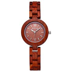 SKONE Wood Womens Watch with Nail Scale Analog Quartz Movement Red ** Find out more about the great product at the image link. (Note:Amazon affiliate link)