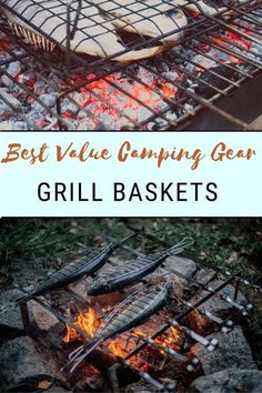 Grill Baskets are a tried and true method to grill almost any food over the open fire. We've collected the best camping grill baskets on Amazon for you to make the perfect chicken, fish, grilled cheese, roast veggies, and more next time you're in the woods! Camping Food Make Ahead, Camping Grill, Camping Meals, Family Camping, Camping Tips, Grilling, Meal Ideas, Food Ideas, Cold Snacks