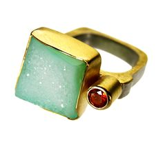Agate/Fireopal/silver/gold by Tanja Ufer
