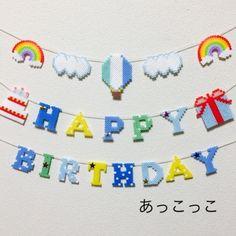 お誕生日ガーランド・バースデーガーランド✴︎気球ブルー 2x