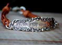 Stamped Silverware Handle Bracelet -  a lovely background for stamping, though it's more than elegant on its own.