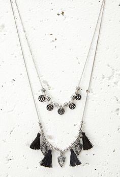 Halskette mit Quasten - Damen Accessoires, Schmuck und Taschen | online shoppen | Forever 21 - 1000076934 - Forever 21 EU