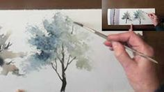 watercolor trees - YouTube