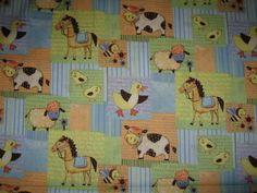 NEW ~ Farm Animals ~ Co-ord fabric ~ 1/2 yard