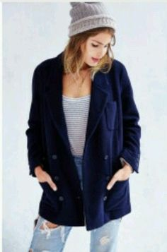 NEW URBAN OUTFITTERS BDG WOMEN'S MID THIGH BLAZER WOOL BLEND COAT SIZE  SMALL #BDGURBANOUTFITTERS #BlazerCoat