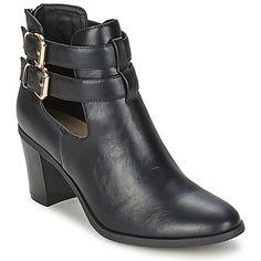 #botines de cuero negro de Betty London - #zapatosmujer