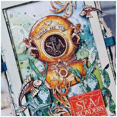 Check out this awesome, Sea of Wonders card using Graphic 45 ColorBox inks! #Regram @graphic45