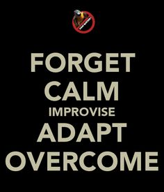 improvise adapt and overcome pyrmid | FORGET CALM IMPROVISE ADAPT OVERCOME - KEEP CALM AND CARRY ON Image ...