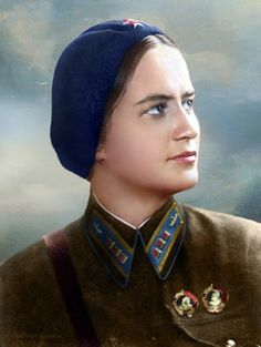 Marina Raskova pleaded with Stalin to allow women to fly and fight to save the Motherland. Stalin gave permission for Raskova to form three regiments: the 586th, 587th, and 588th. She was the Amelia Earhart of the Soviet Union.
