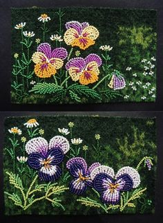 "Two pansy studies @ 4"" x 6"" each by Jo Wood"