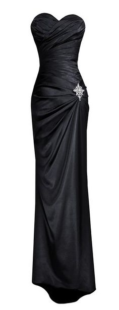 Women's Strapless Long Satin Bandage Gown
