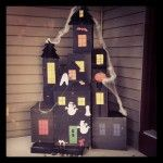 Build a Halloween House craft out of recycled boxes of all shapes and sizes. Halloween Goodie Bags, Halloween Treat Boxes, Halloween Village, Halloween Haunted Houses, Halloween House, Spooky Halloween, Halloween Themes, Halloween Crafts, Halloween Decorations