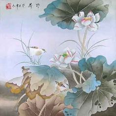 chinese lotus flowers | Chinese Lotus Flower Painting - This is an Original Painting