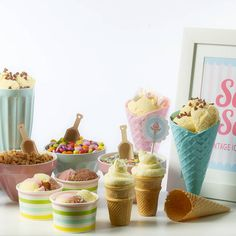 vintage ice cream party kit by feather grey parties | notonthehighstreet.com