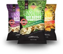 No Added Salt, Bold Flavor! amazing innovation in the chip category...unsalted and flavored--out of this world