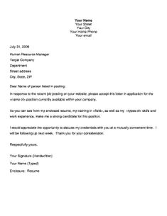 Cover Letter For Application Cover Letter Template Job Application  Cover Letter Template .