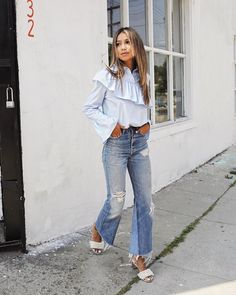 """79.3k Likes, 781 Comments - JULIE SARIÑANA (@sincerelyjules) on Instagram: """"Staying cool with latte and new denim mini! @shop_sincerelyjules / Shop Dixie mini…"""""""
