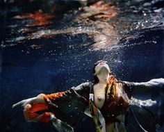 """Elevation"" Underwater fashion photography ©peter de mulder"