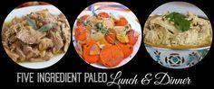 5 ingredient or less paleo recipes