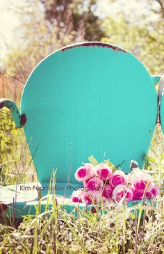 Items similar to Spring Summer Home Decorating - Fine Art Photography, vintage rose teal pink field chair aqua spring summer retro, shabby, cottage chic on Etsy Aqua, Pink Turquoise, Pink Purple, Turquoise Chair, Teal, Vintage Chairs, Vintage Patio, Palette, Vintage Roses