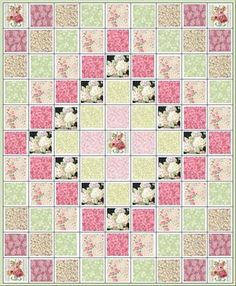 Roses and Hydrangeas Quilt Kit