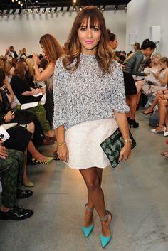 Rashida Jones bei der New York Fashion Week im September 2013 - Pop Star New York Fashion, Star Fashion, Love Fashion, Girl Fashion, Fashion Outfits, Fashion Trends, Rashida Jones, Fade Styles, Dressed To The Nines