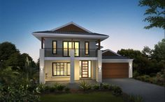 Metricon Home Designs: The Yallambee - Plantation Facade. Visit www.localbuilders.com.au/builders_victoria.htm to find your ideal home design in Victoria