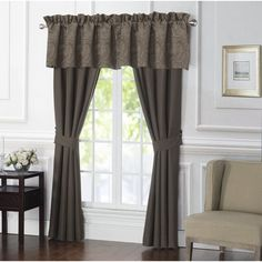 Bring dramatic style to your bedroom décor with Waterford's Glenmore Window Valance. In a tailored silhouette, paisley jacquard provides your frame with an elegant drape, injecting an element of depth to your living area. Mink Curtains, Window Curtains, Valance, Waterford Bedding, Rod Pocket Curtains, Curtain Panels, Space Furniture, Bedding Collections, Window Treatments