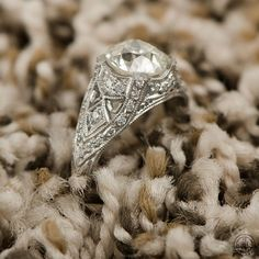 Old European Engagement Ring Estate by EstateDiamondJewelry