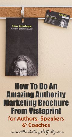 How To Do An Amazing Authority Marketing Brochure From Vistaprint... Authority marketing for people like coaches, speakers, authors and podcasters is a tricky business. Sometimes talking about how wonderful you are seems to be a little boastful. But if you don't talk about yourself, how can you let the world know all you have to offer?