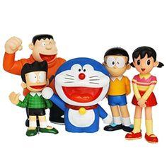 Lujex Doraemon and Nobita Nobi Action Figure Toy Figurine Doraemon Family Collection 5pcs/set