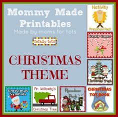 Collection of Christmas Printables from many moms, featured on Totally Tots