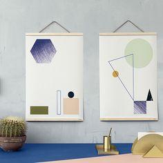 Ferm Living, Danish Design – Made with Love Diy Hanging Shelves, Hanging Art, Wall Shelves, House Doctor, Copenhagen Design, Frame Store, Kartell, Blog Deco, Diy Home Decor Projects