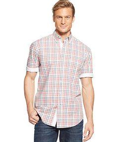 Club Room Short-Sleeve Lubec Plaid Shirt