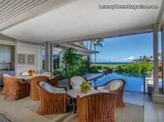 Indoor/outdoor living in Hawaii #realestate #luxuryhomes
