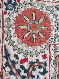 Finest Silk suzani embroideries by CarpetView, via Flickr