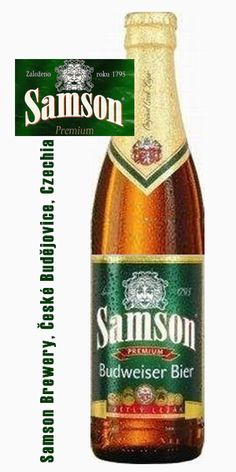 Samson beer from České Budějovice (South Bohemia), founded in Czechia. Czech Beer, Beers Of The World, Brewery, Beer Bottle, Alcoholic Drinks, Relax, Traditional, Food, Around The Worlds