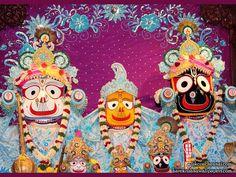 Jagannath Baladeva Subhadra Wallpaper   {ISKCON Chennai} For more screen resolution wallpapers visit http://harekrishnawallpapers.com