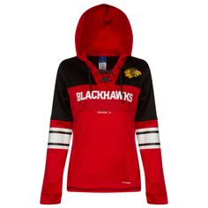 5fdc4232d370a Chicago Blackhawks Women s 2015 Red and Black Lace-Up